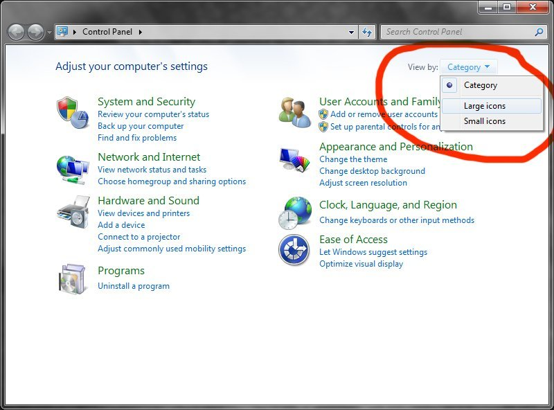 How to change Control Panel to Classic View in Windows 7 | withsteps ...