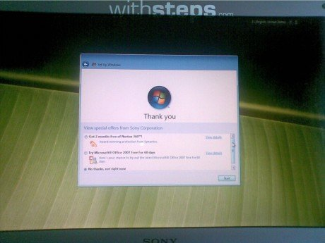 factory reset sony laptop windows 7