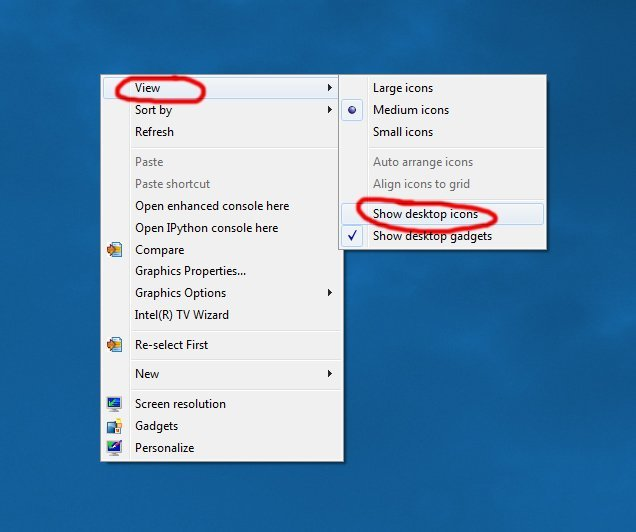 All of my desktop icons and files disappeared | withsteps com
