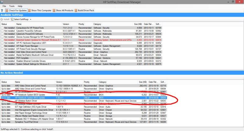 HP BIOS Update